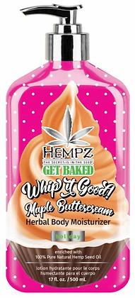 Hempz Get Baked Maple Buttercream Herbal Moisturizer 17 oz