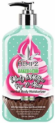 Hempz Baked with CBD Minty & Mellow Pep-O-Mint Herbal Moisturizer 17 oz