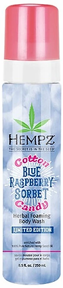 Hempz Cotton Candy Blue Raspberry Sorbet Herbal Foaming Body Wash 8.5 oz