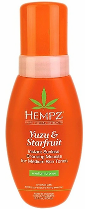 Hempz Yuzu & Starfruit Instant Mousse Medium Sunless Lotion