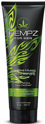 Hempz for Men Natural Bronzing Charcoal Infused Tanning Lotion 9 oz