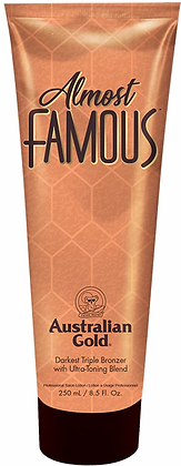 Australian Gold Almost Famous Triple Bronzer Tanning Lotion 8.5 oz
