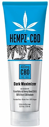 Hempz & CBD 400mg Dark Maximizer Tanning Lotion 8.5 oz