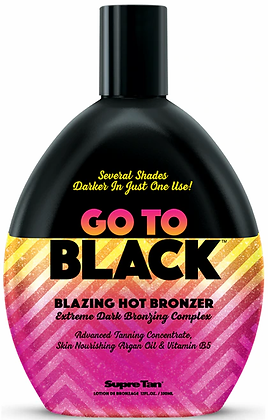 Supre Tan Go to Black Blazing Hot Bronzer Tanning Lotion 12 oz