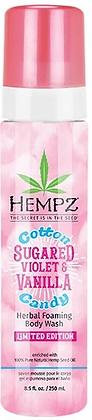 Hempz Cotton Candy Sugared Violet & Vanilla Herbal Foaming Body Wash 8.5 oz