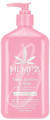 Hempz Sweet Jasmine & Rose Smoothing Herbal Body Moisturizer 17 oz