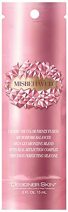 Designer Skin Misbehaved Candid 70X Bronzing Tanning Lotion Sample Packet .5 oz