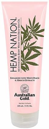Australian Gold Hemp Nation White Peach & Hibiscus Body Wash 8 oz