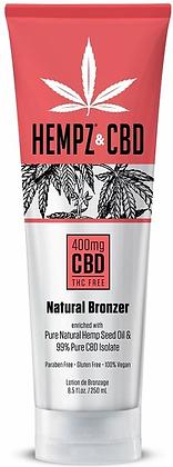 Hempz & CBD 400mg Natural Bronzer Tanning Lotion 8.5 oz