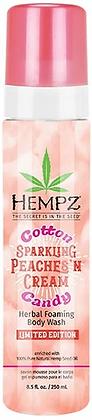 Hempz Cotton Candy Sparkling Peaches' N Cream Herbal Foaming Body Wash 8.5 oz