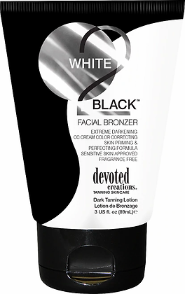 Devoted Creations White 2 Black Facial Bronzer Tanning Lotion