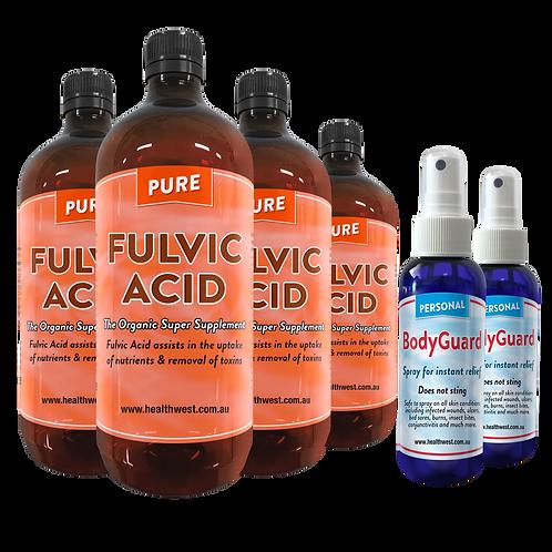 4 Fulvic Acid 1 Litre & 2 Free BodyGuard Spray
