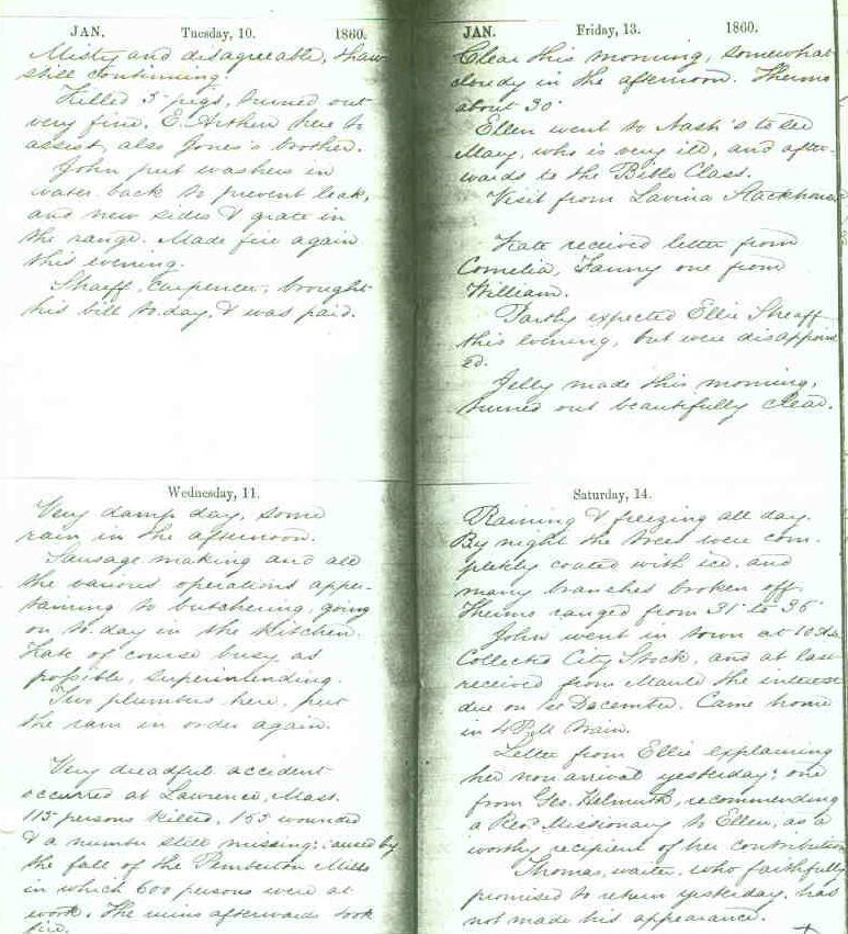 Sheaff 1860 Journal (B)