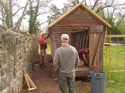 PHMC Carpentry Crew Working on Corn Crib