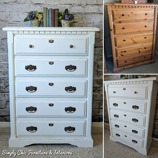 This tall dresser is a part of the large
