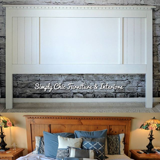 This king headboard is a part of the lar