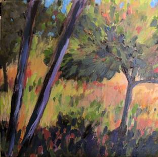 "12 x 12"" acrylic painting over original canvas print"