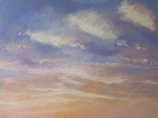 blue skies  pastel