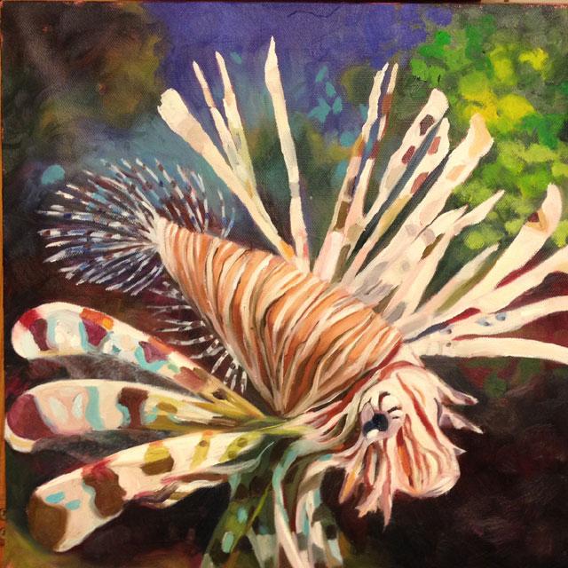lionfish- oil paint