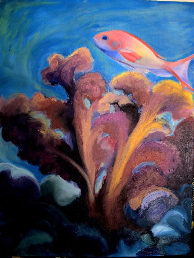 reef fish - oil paint