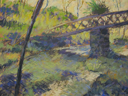 crossing the stream 2 - pastel