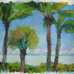 "8 x 10"" oil sticks on watercolor paper"