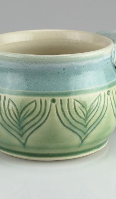sprout bluegreen mug