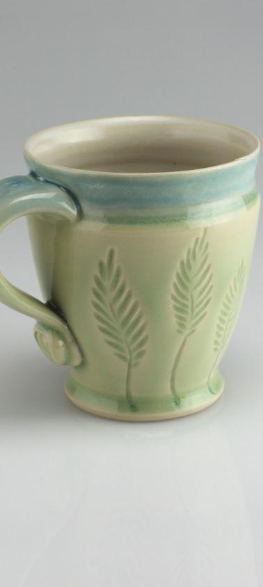 dancing leaf mug