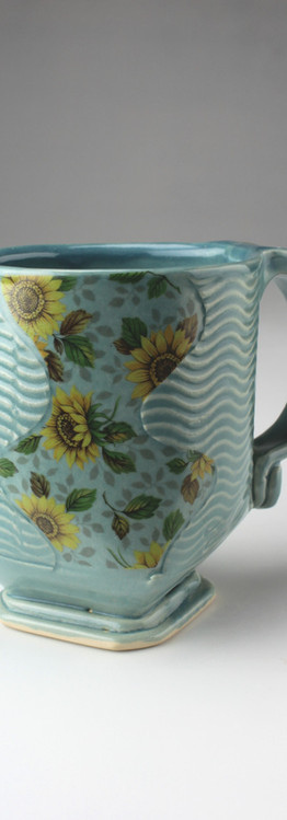 sunflower wave mug