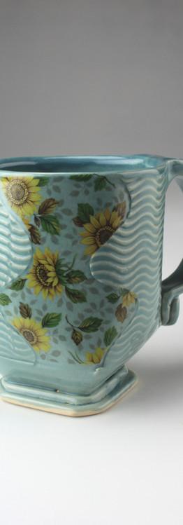 sunflower wave mug
