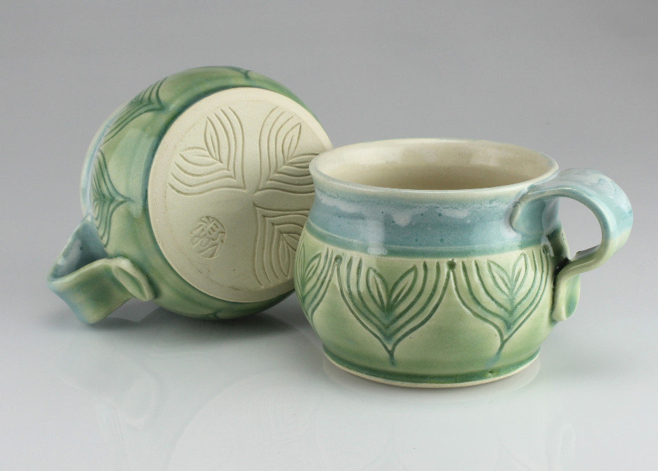 sprout bluegreen mugs - #M2024-#M2025.JP