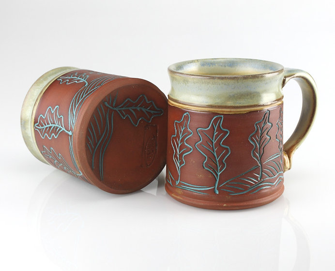 leaf-tree mugs  #M2012-#M2013b.JPG