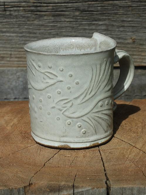 10 oz. Stoneware mug - bone white glaze