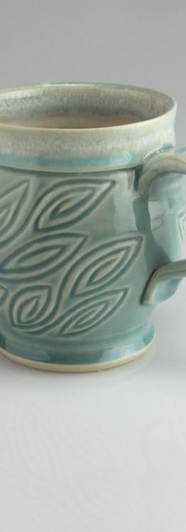 leaf spiral mug