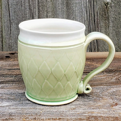 12 oz. white stoneware mug