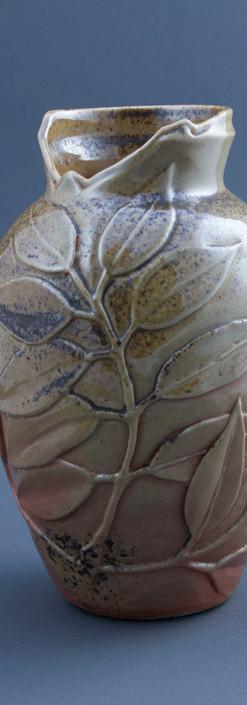 ash vase - wood fired - porcelain.JPG