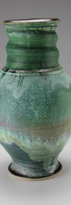 vase, muliple layered glaze