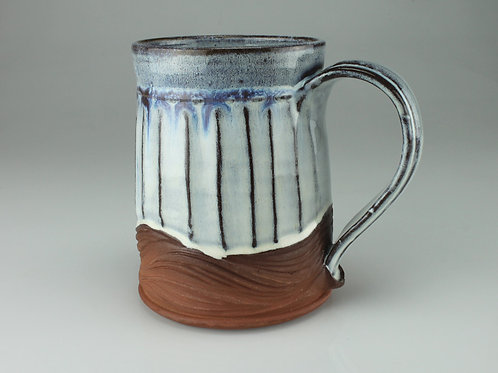 Sculpted stein, 14 ounce,  Athens county clay