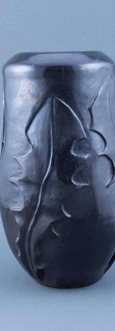 dandelion leaf vase - pit fired