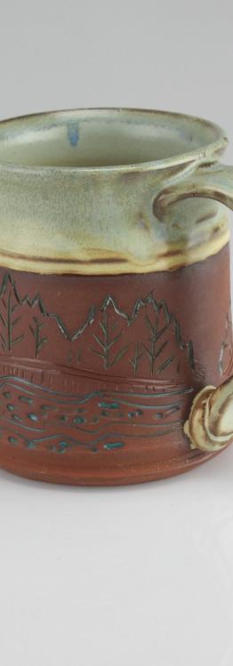 trees and stream mug