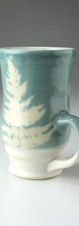 tall fern-tree mug