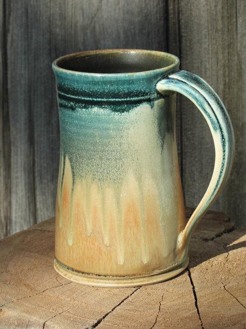 16 oz. stein - white stoneware