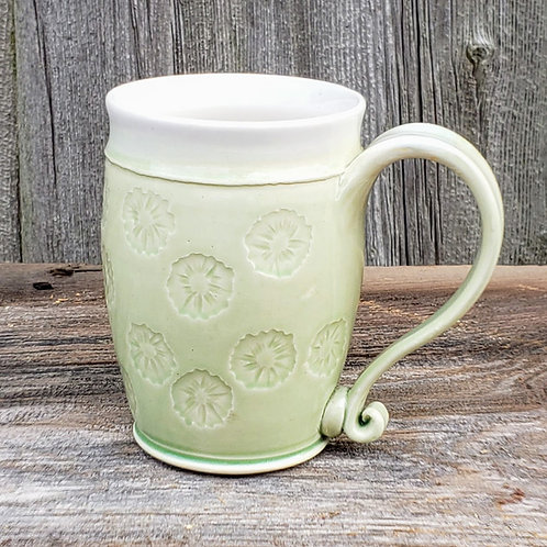 10 oz. white stoneware mug