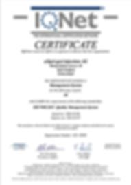 IQ NET Certificate