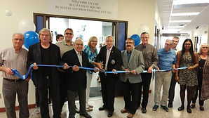 Gran Opening Ribbon Cuttin with mayor of oshawa