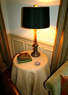 Arhaus Black Shade Table Lamp