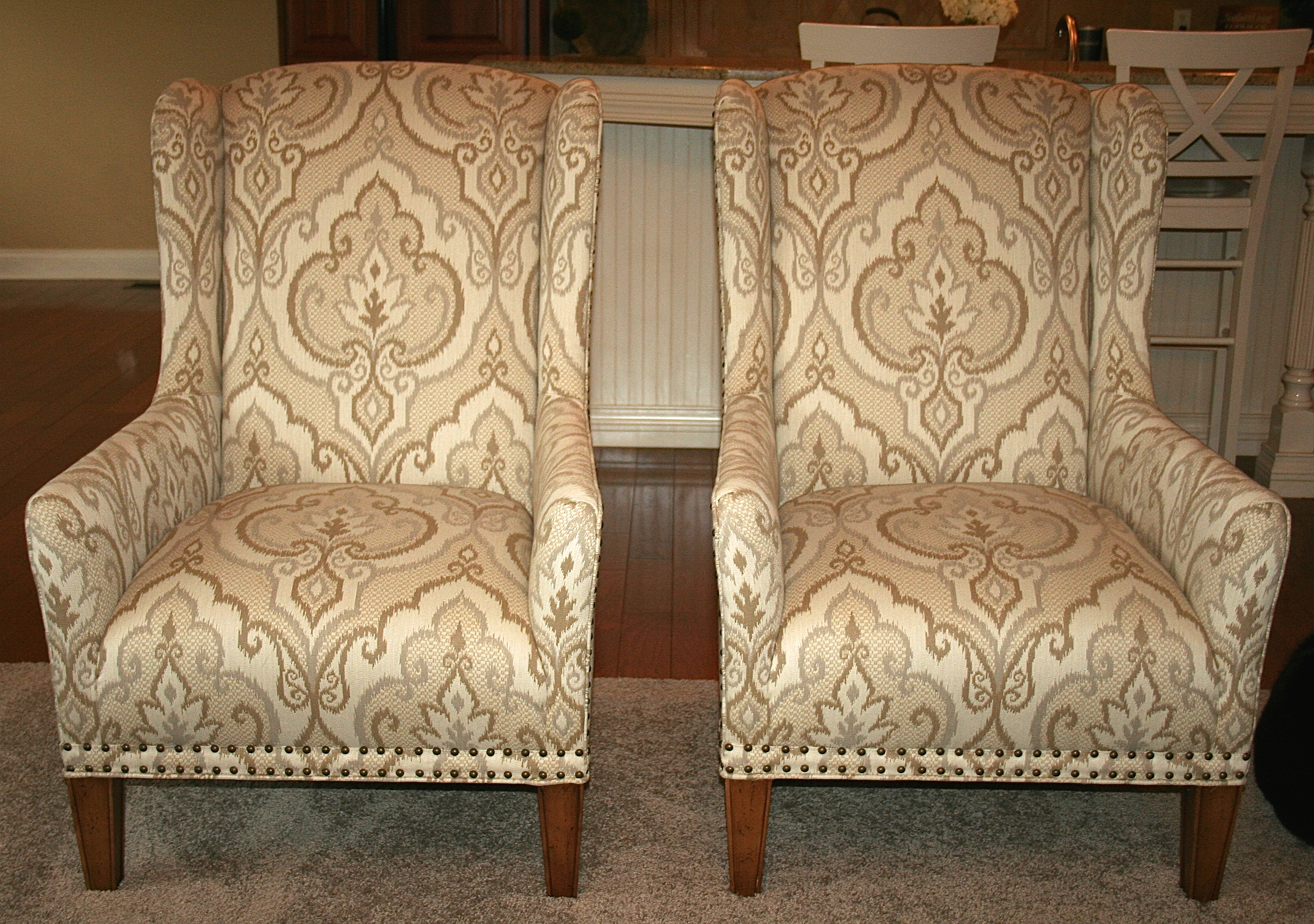 Custom Fabric Accent Chairs.Furnishings Upholstery The Gold Finch