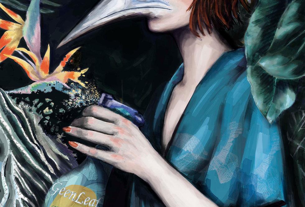 Lámina Ilustrada Edición Limitada 'Concentrated Rainforest Sprayer'