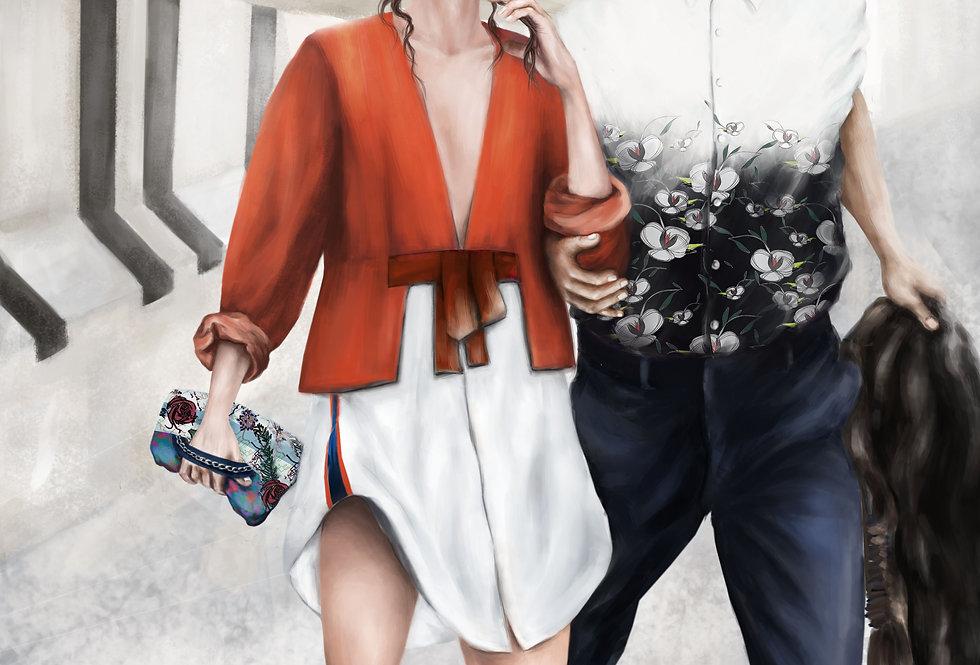 Lámina Ilustrada Edición Limitada 'Holly & Paul'