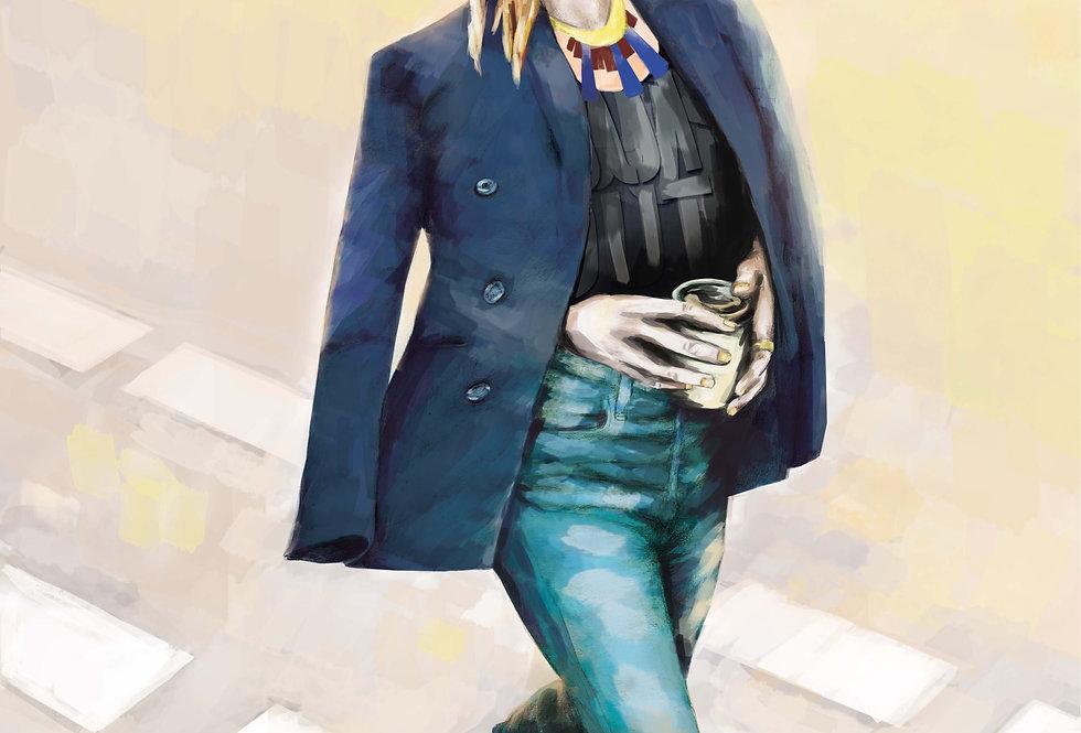 Lámina Ilustrada Edición Limitada 'Look Casual Urbano'